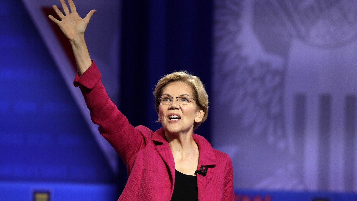 Warren breaks from O'Rourke, won't tax churches that oppose gay marriage