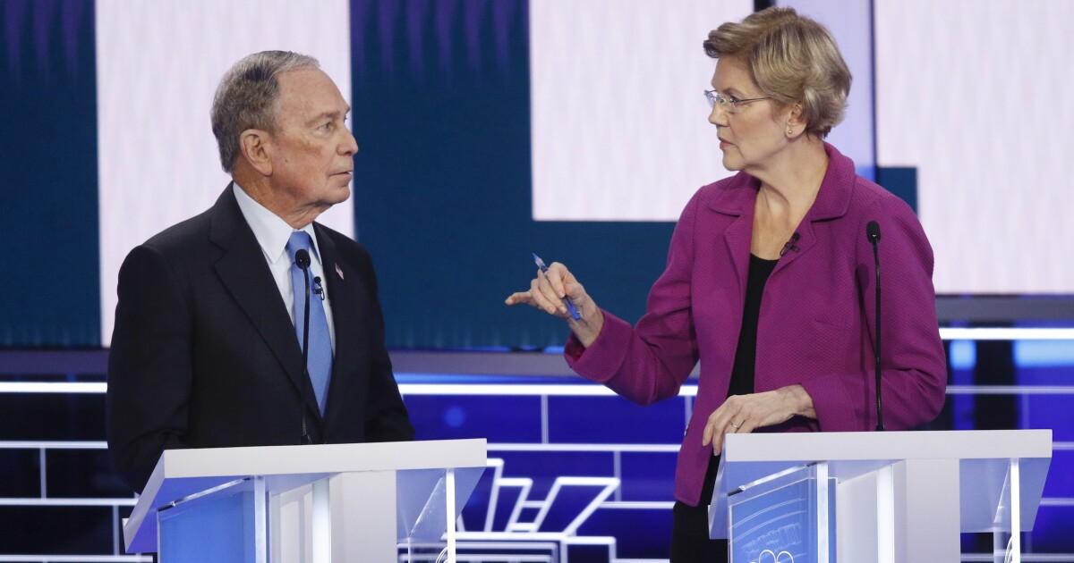 Warren mocks Bloomberg`s height