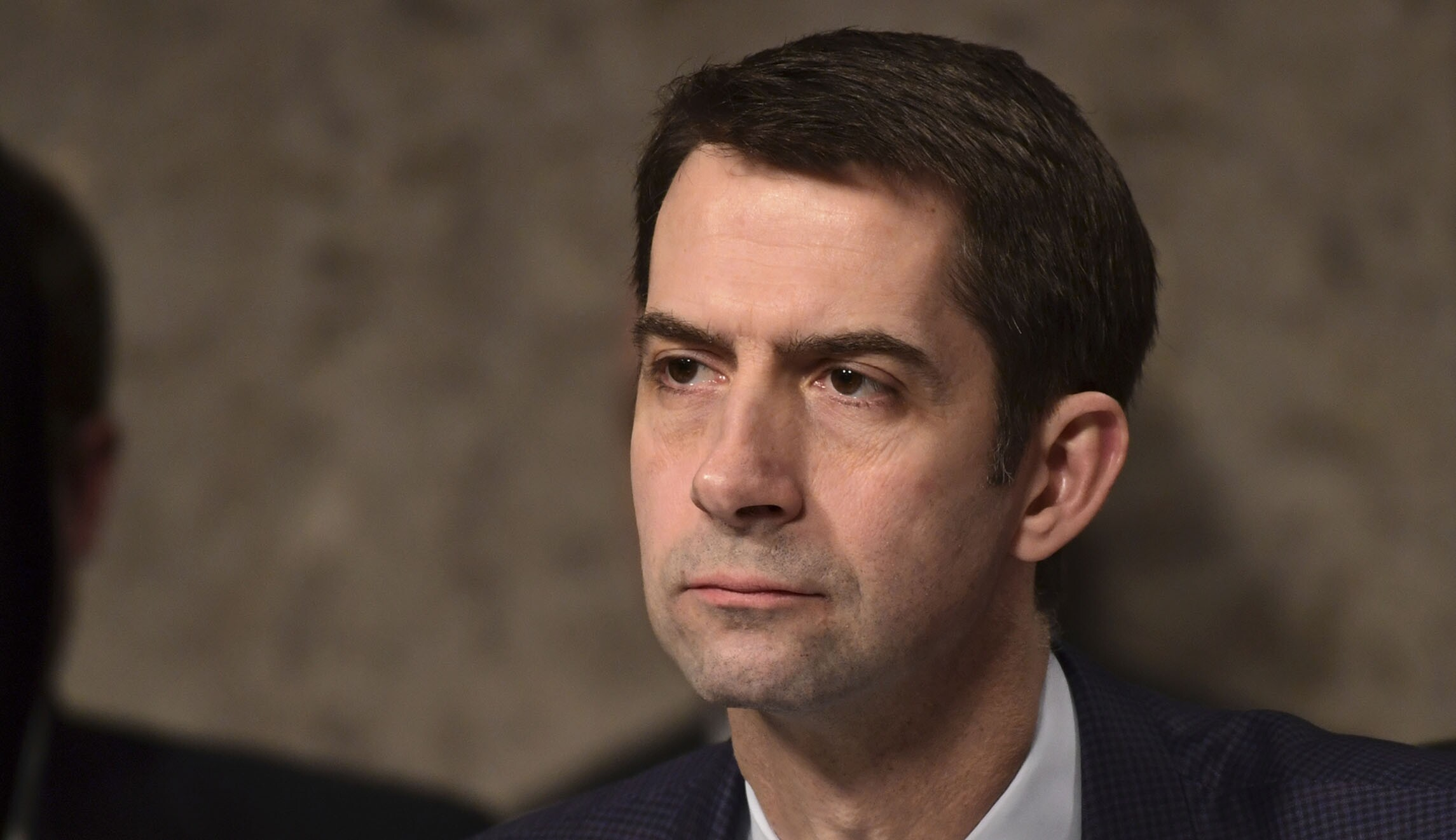 Tom Cotton is seen.