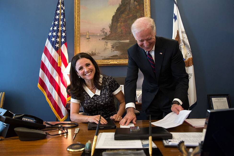 Veep Star Julia Louis Dreyfus Clowns With Joe Biden In The