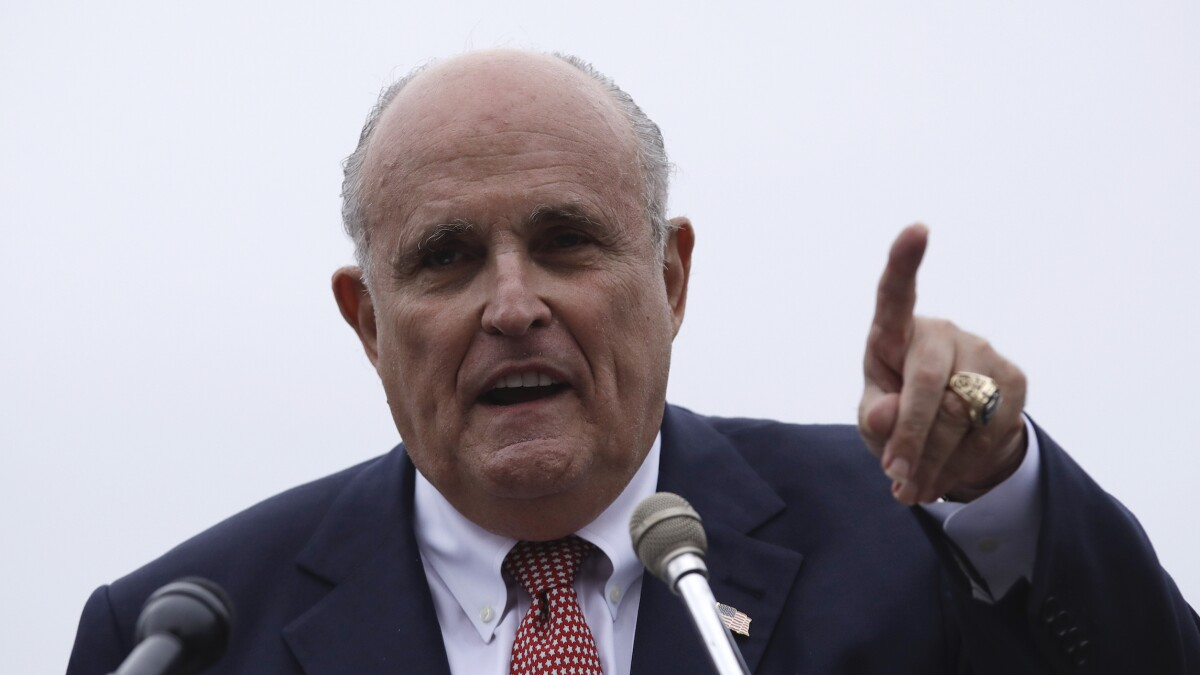 'This is a coup attempt': Giuliani says he believes in 'deep state'