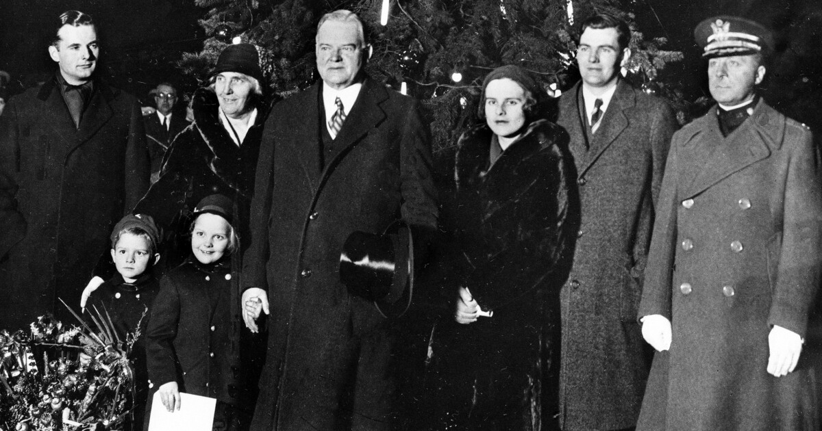 The first White House Christmas during the Great Depression