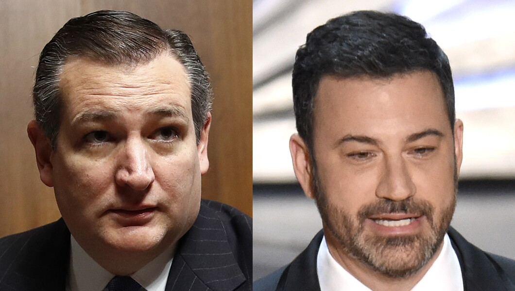 Ted Cruz and Jimmy Kimmel